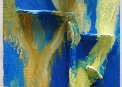 Hindernis, Öl auf Leinwand, 50 x 40 cm, 2015