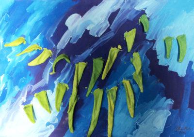 Tiefsee, Öl auf Leinwand, 70 x 100 cm, 2016