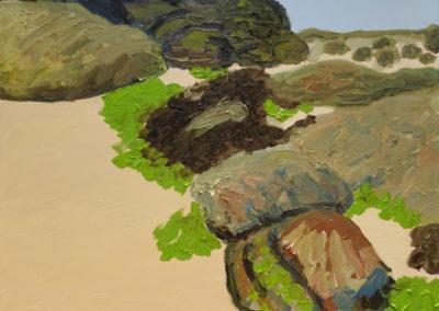 Cote Abers, Frankreich, Öl auf Leinwand, 80 x 100 cm, 2020