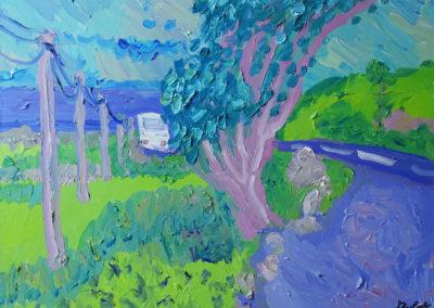 Connemara, Irland, Öl auf Leinwand, 80 x 100 cm, 2015