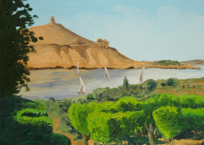 Assuan, Ägypten, Öl auf Leinwand, 80 x 100 cm, 2018