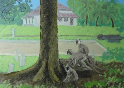 Anuradhapura, Sri Lanka, Öl auf Leinwand, 80 x 100 cm, 2019