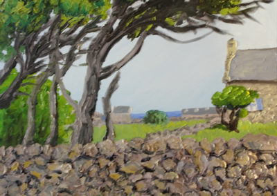 Insel d´Ouessant, Frankreich, Öl auf Leinwand, 90 x 120 cm, 2020